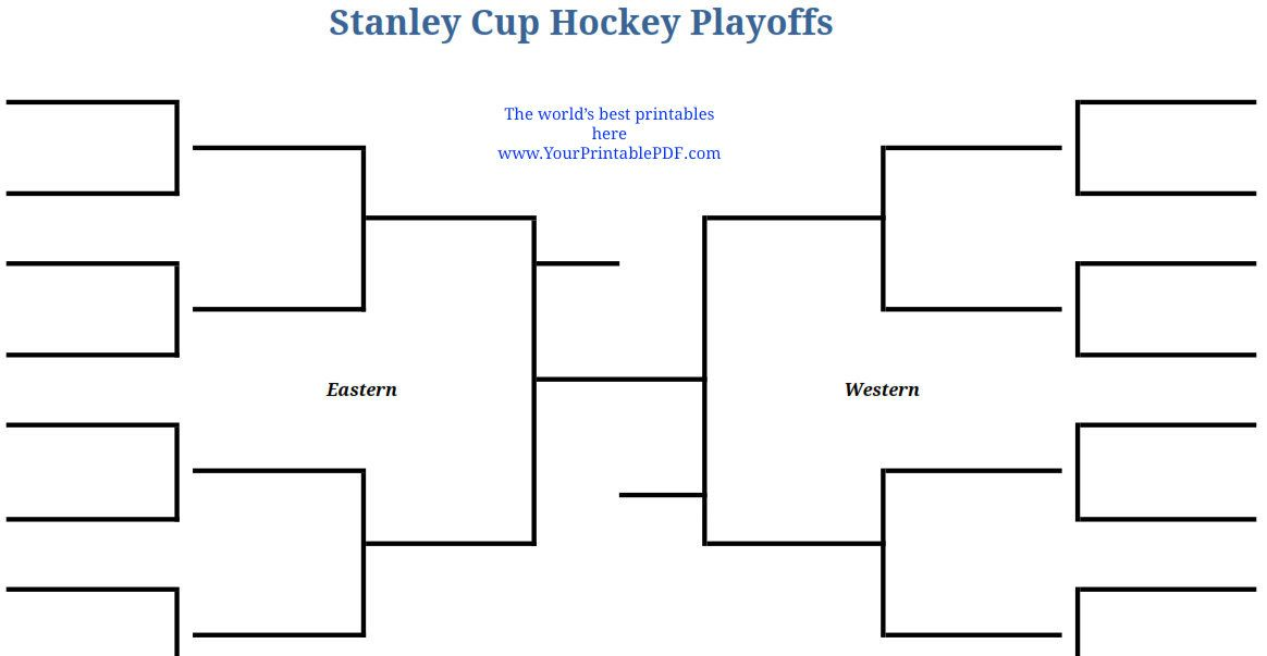 photo regarding Printable Nhl Playoff Bracket identified as 2014 Printable NHL Playoffs Stanley Cup Bracket 2012 NHL