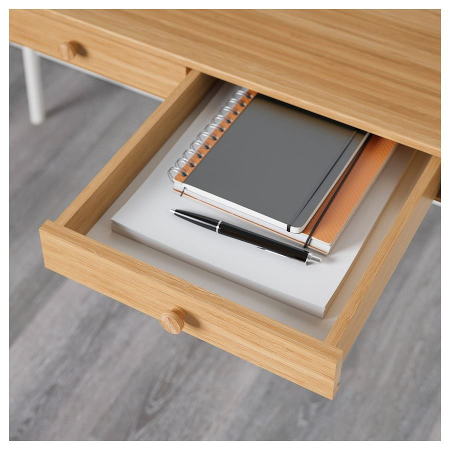 "LILLÅSEN Desk bamboo 40 1/8x19 1/4 "" (102x49 cm)"