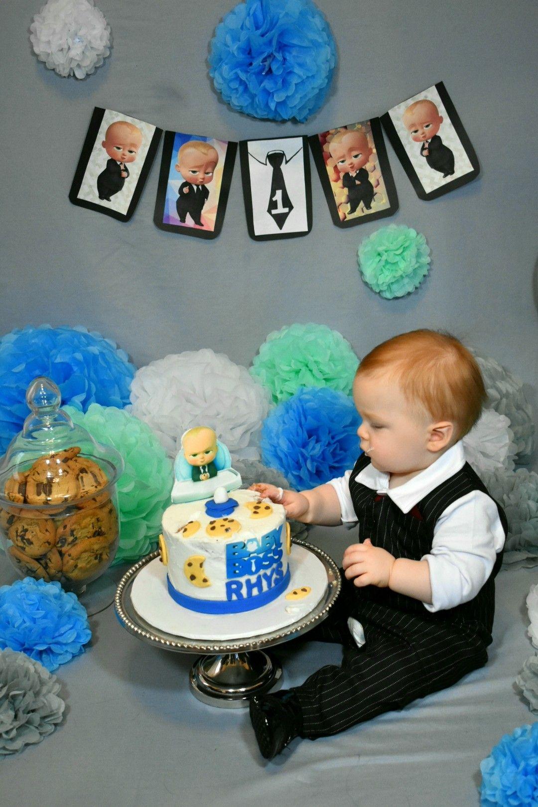 Cake Smash Boss Baby Cake Smash Birthday Boy Boss Baby Themed