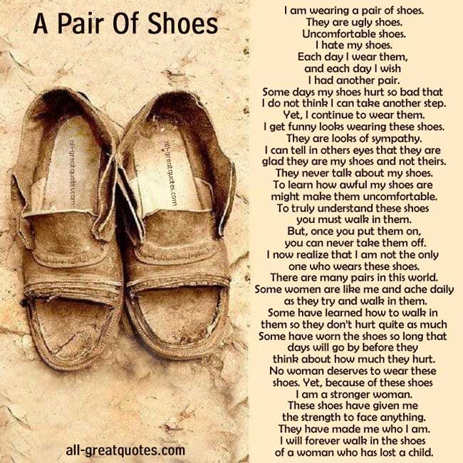 Free To Share In Loving Memory Cards A Pair Of Shoes