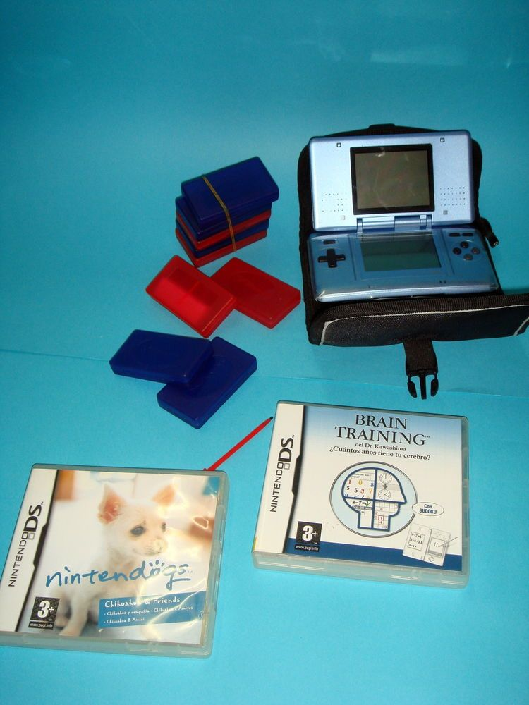 Consola Nintendo Ds Funda 2 Juegos Cajas Para Juegos Y Palito