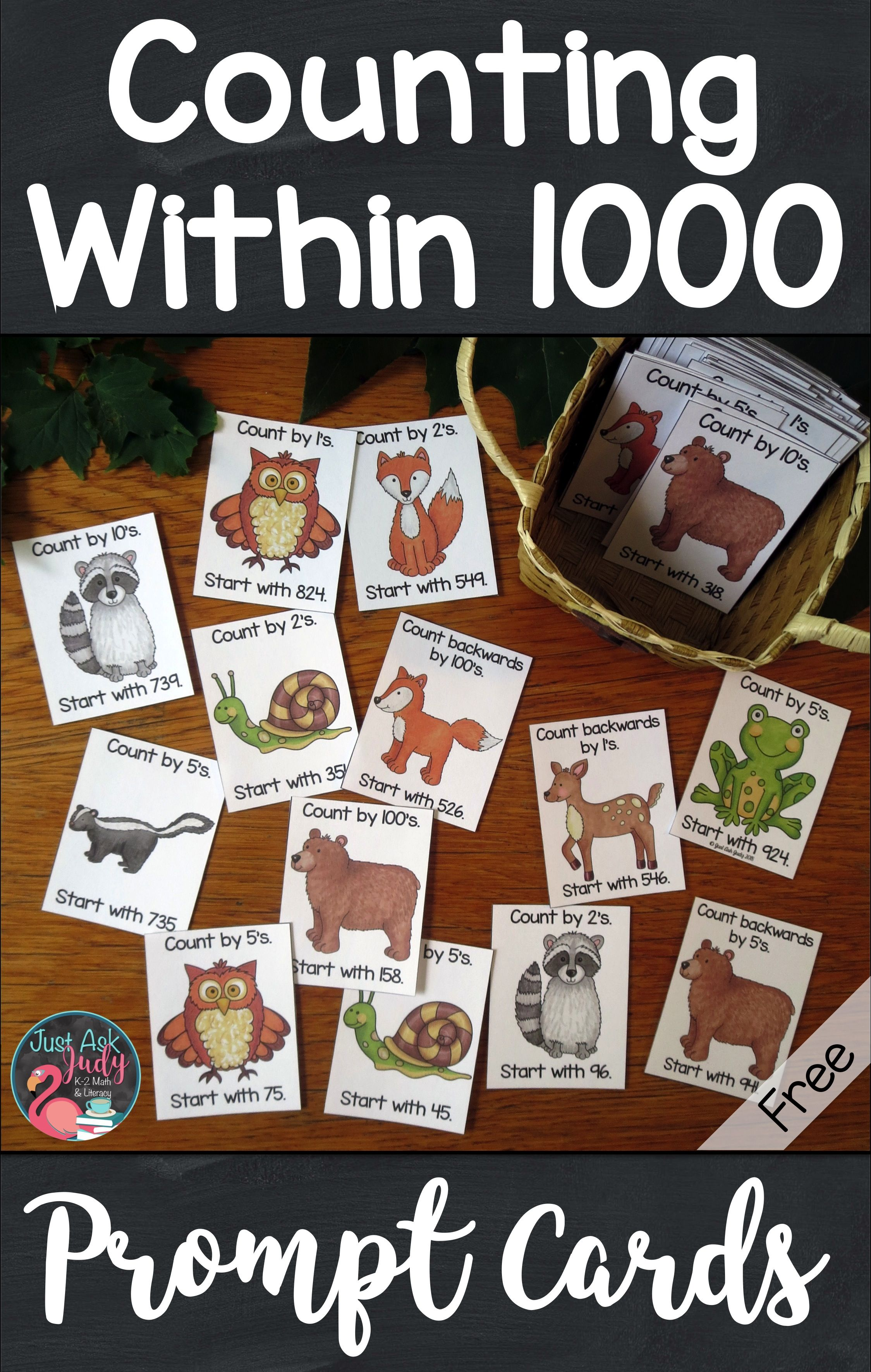 Counting Within Forest Animal Prompt Cards