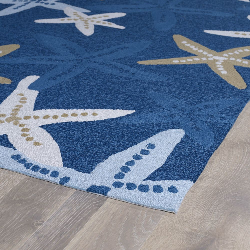 'Luau' Blue Starfish Print Indoor/Outdoor Rug (7'6 x 9') | Overstock.com Shopping - Great Deals on 7x9 - 10x14 Rugs