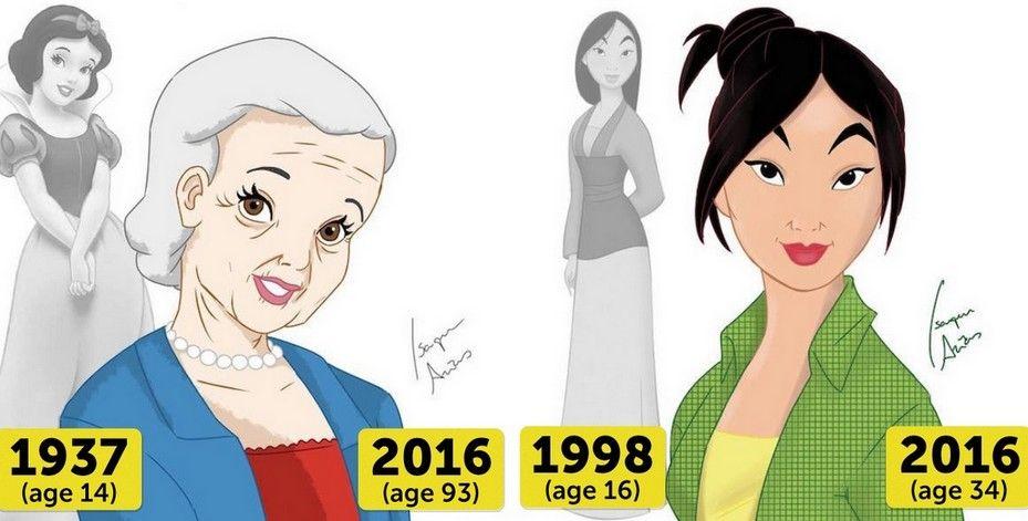 Si les Princesses Disney faisaient leur âge