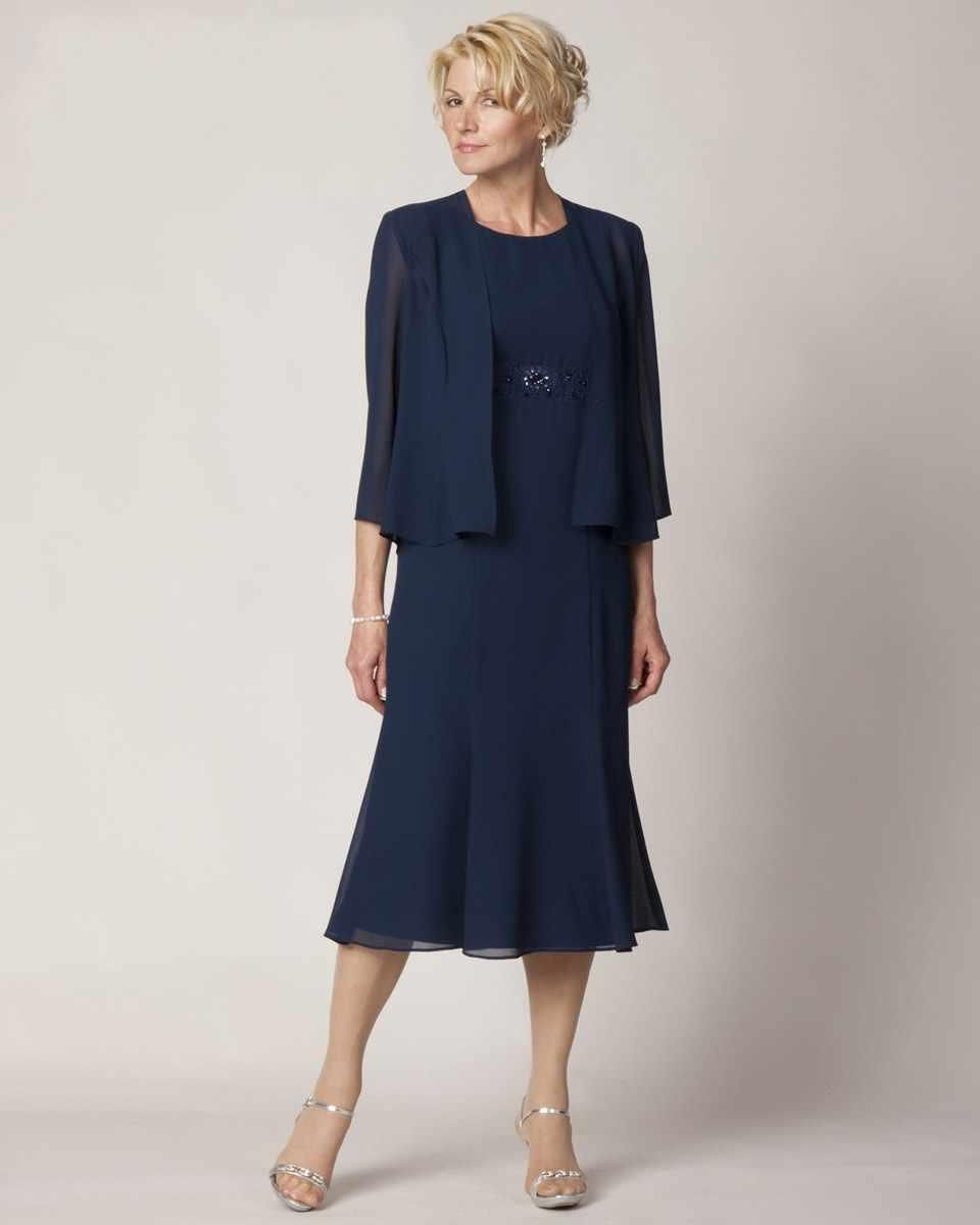 Dark Blue Plus Size Mother Of The Bride Dresses With