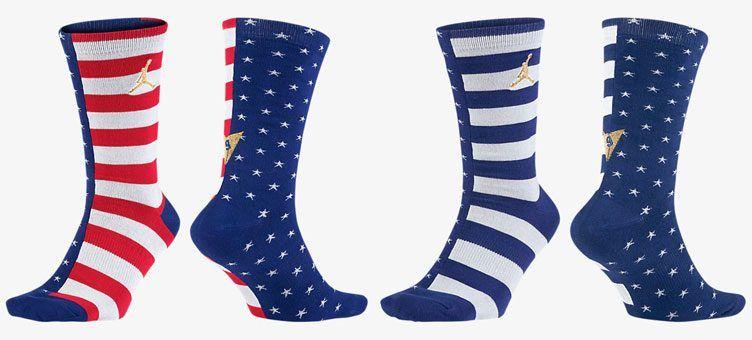 "5b6531ce1c4ab5 Air Jordan 7 ""Olympic"" Socks"