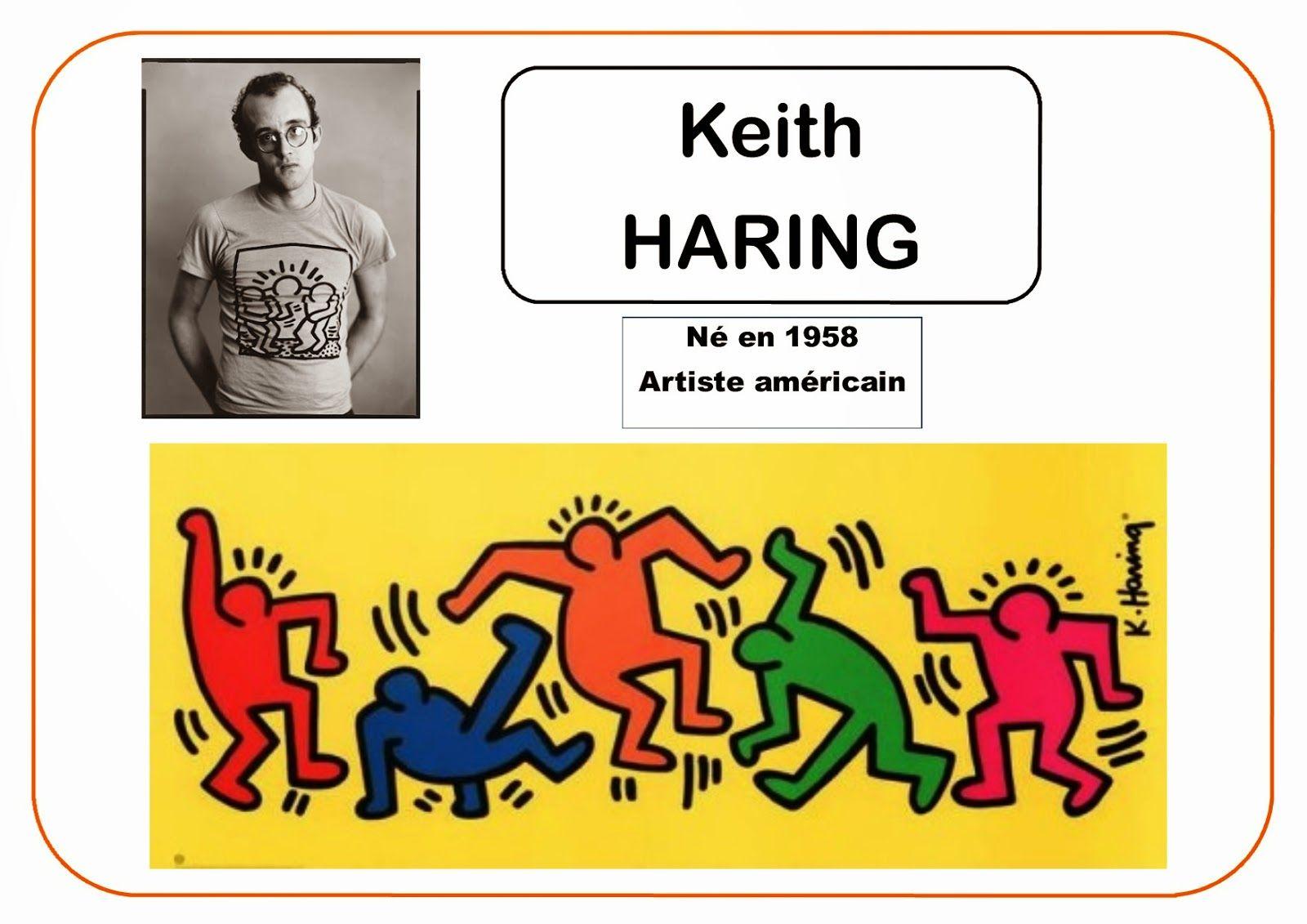 Top Keith Haring - Portrait d'artiste | carte idte peintres  CW25