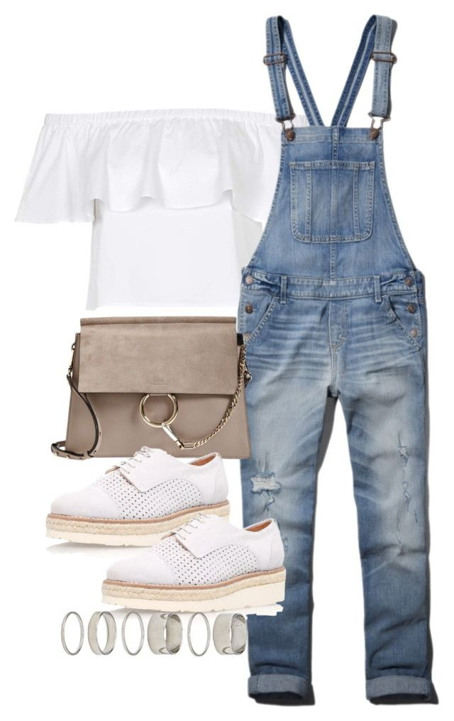 """Untitled #2159"" by marianam97 ❤ liked on Polyvore featuring Topshop, Abercrombie & Fitch, Chloé, Carvela Kurt Geiger and Forever 21"