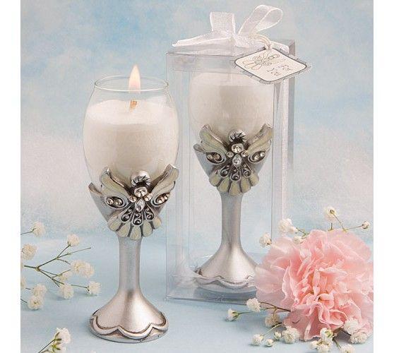 Angel Design Champagne Flute Candle Holder