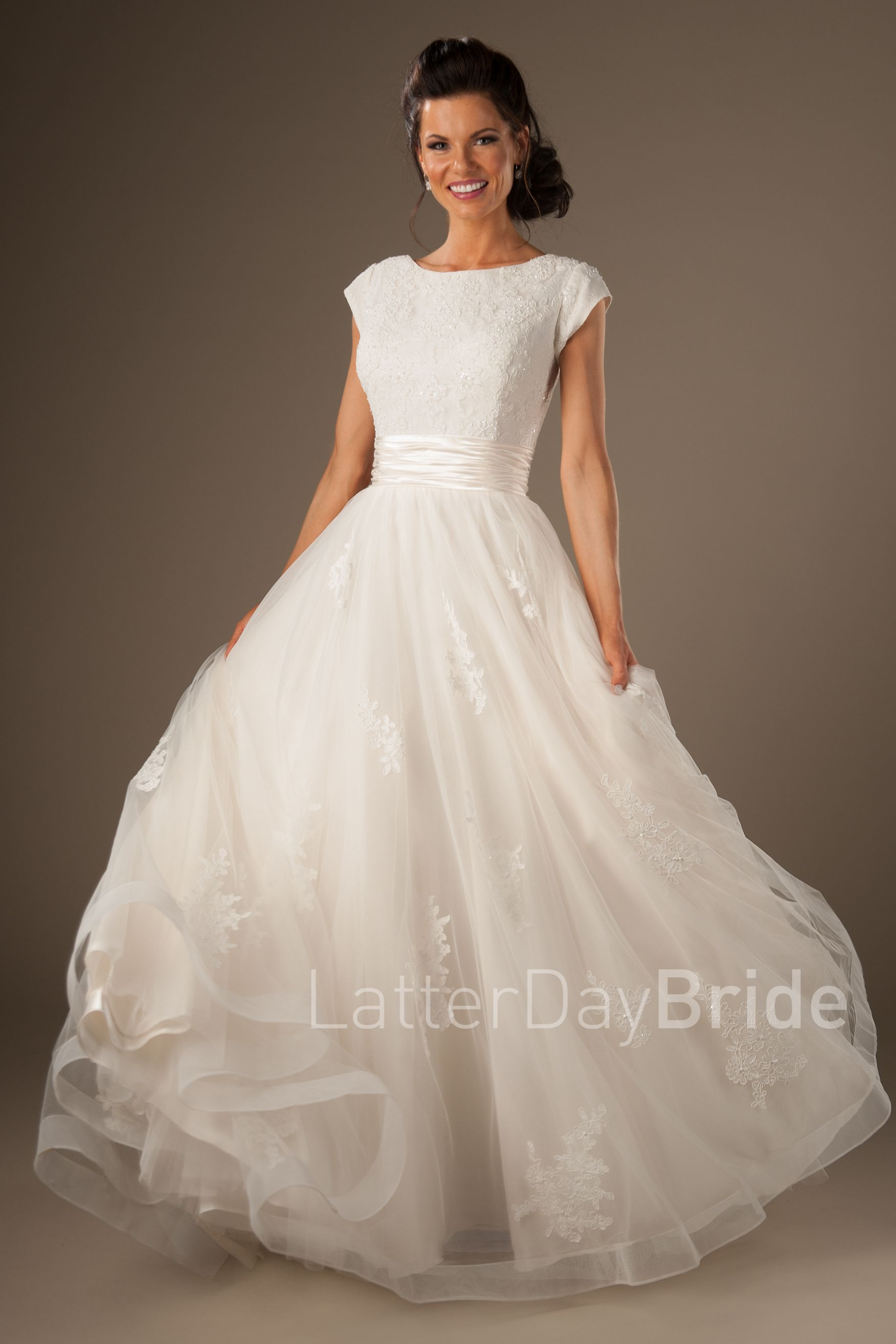 Lorelai- Modest Ball Gown- $1305 Latterday Bride Collection, found ...