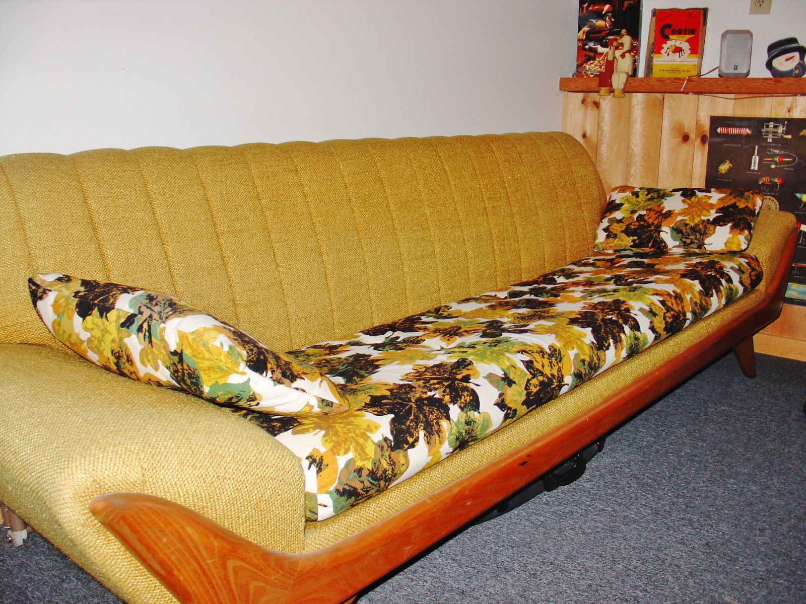 Kroehler Mid Century American Leisure Casual Sofa and High Back