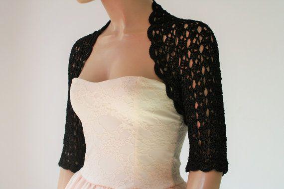 Wedding Bridal Bolero Shrug Lace Crochet Shrug by GABRIELAFAUR