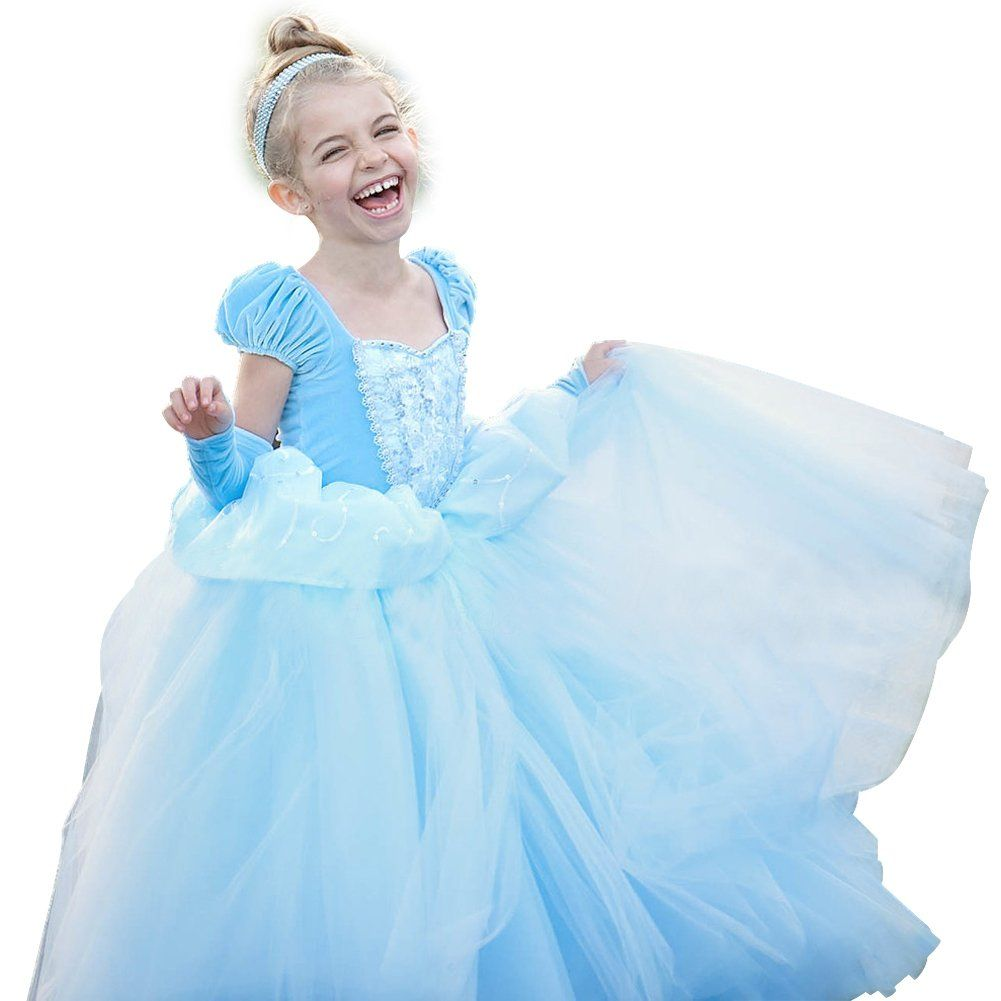 CQDY Girls Princess Dress Fancy Costume Role Play Ball Gown Halloween Party Dress up