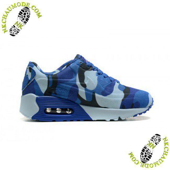 newest ffd92 60369 Air Max 90 chaussure de sport nike enfant Camouflage Bleu