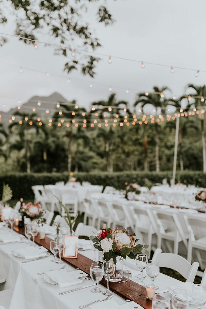 Utterly Romantic Hawaiian Wedding At Molii Gardens At Kualoa Ranch