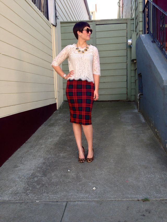 Lace and Plaid