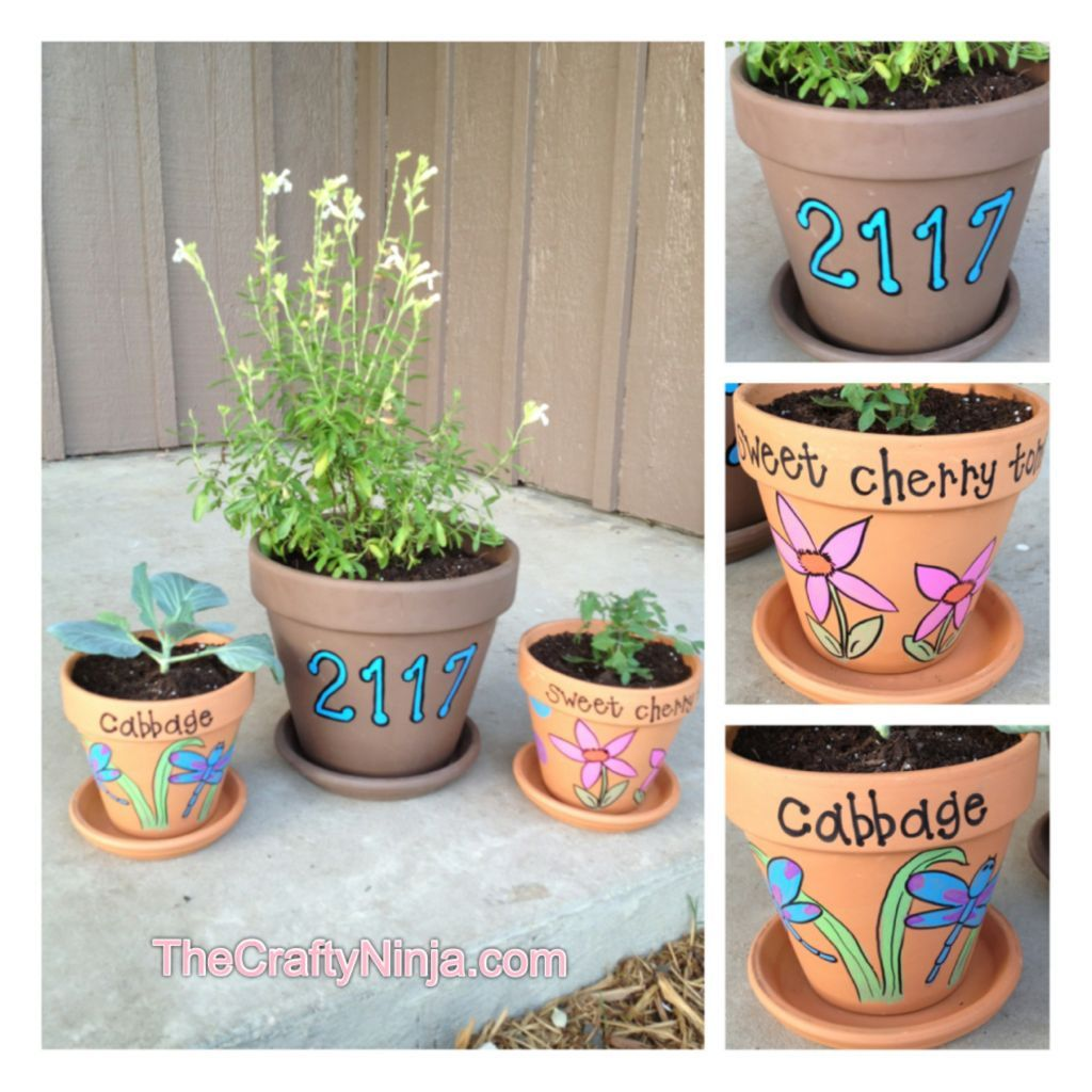 Terracotta Sharpie Paint Marker Design    now that's an easy way to