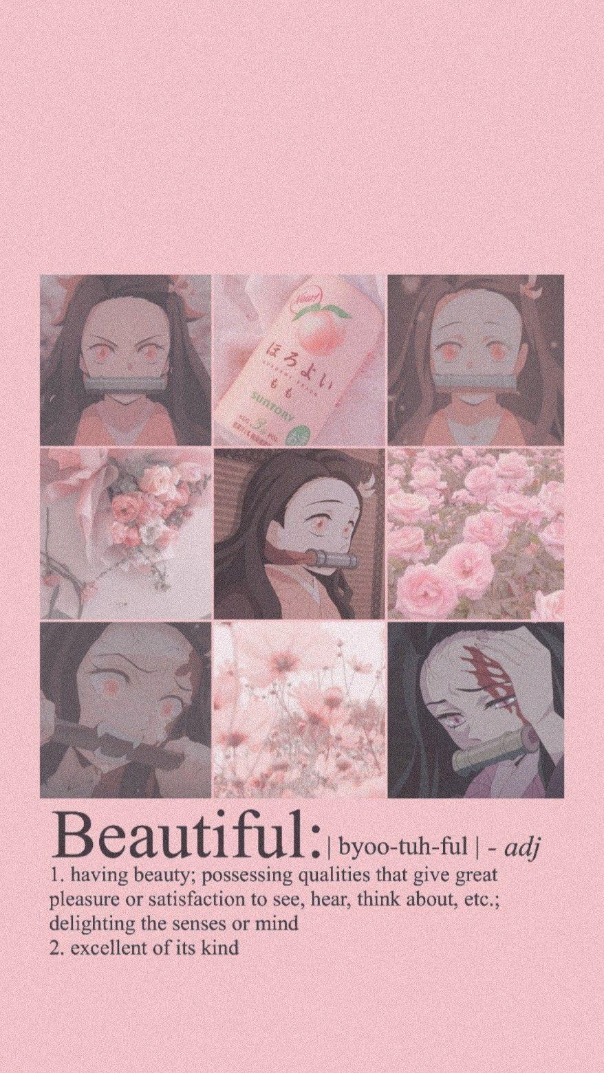 Kamado Nezuko Wallpaper Aesthetic Anime Cute Anime Wallpaper Anime Background Cute anime wallpaper collage
