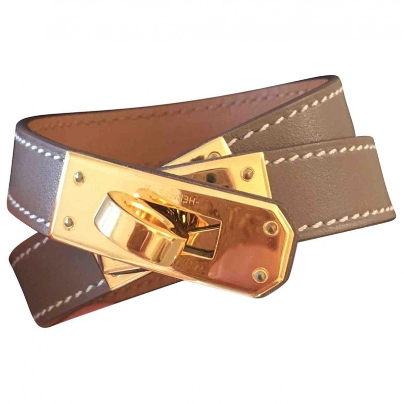 a2e553c57004 Leather HERMÈS Bracelet - Vestiaire Collective