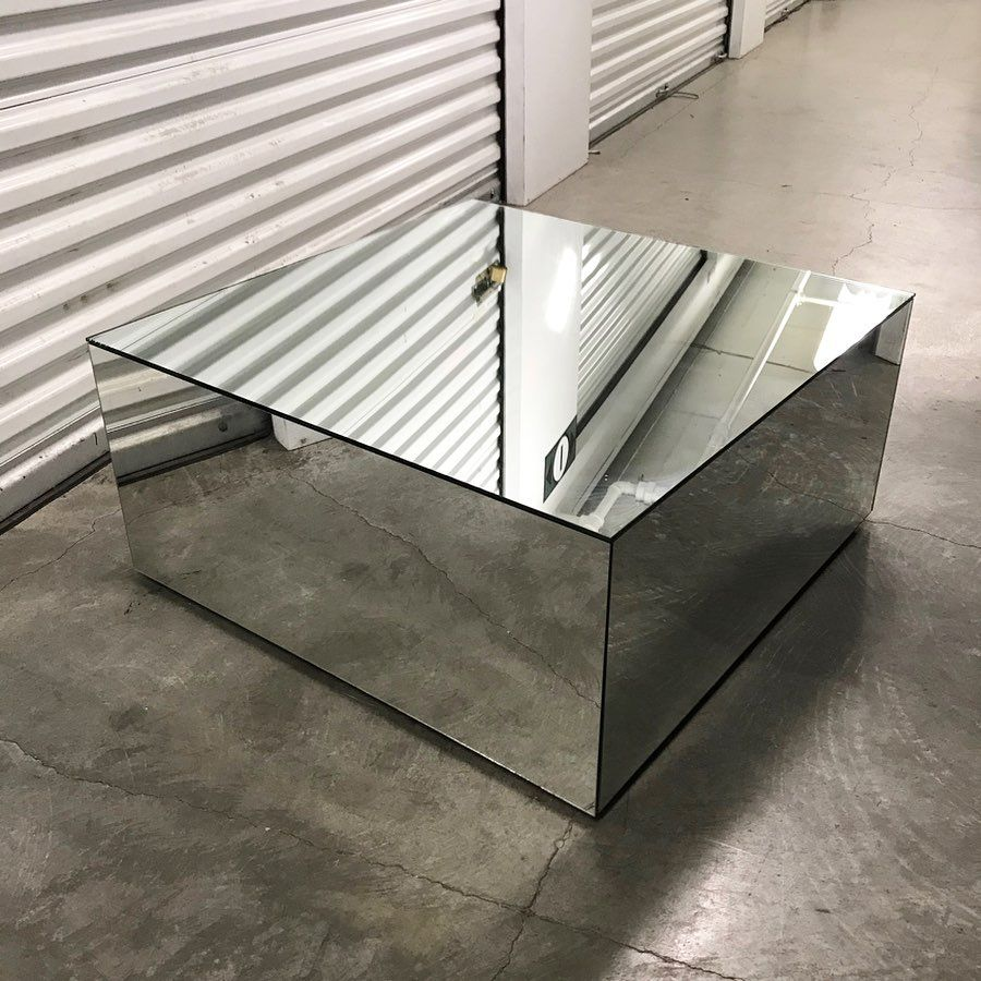 Out Of Stok On Instagram Vintage 70s Mirrored Cube Coffee Table