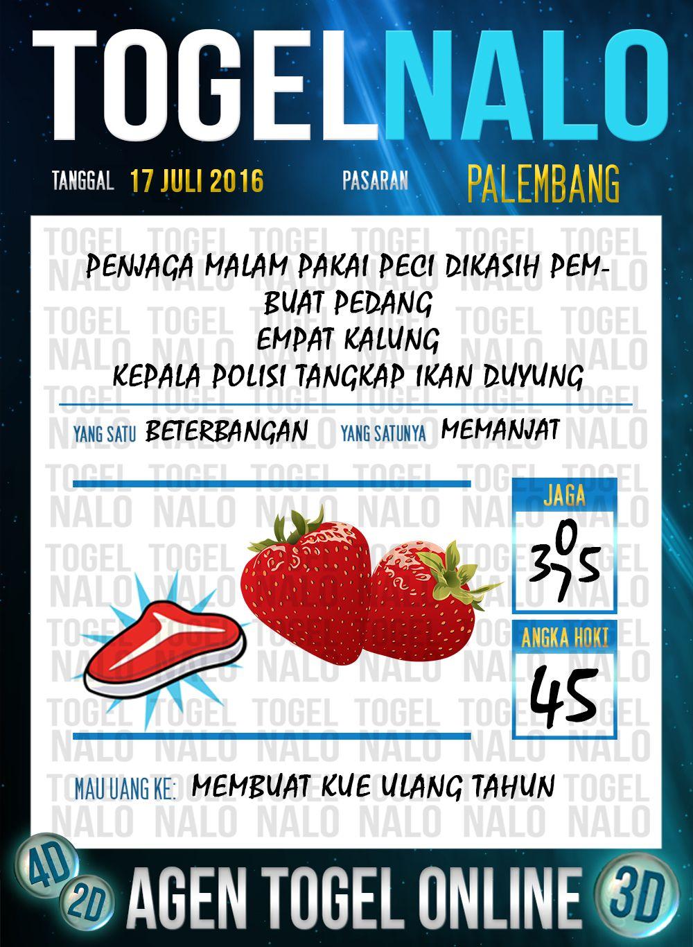 Prediksi Togel Online Live Draw 4d Togelnalo Palembang 17 Juli 2016 4 Juli 24 Juni 15 Agustus