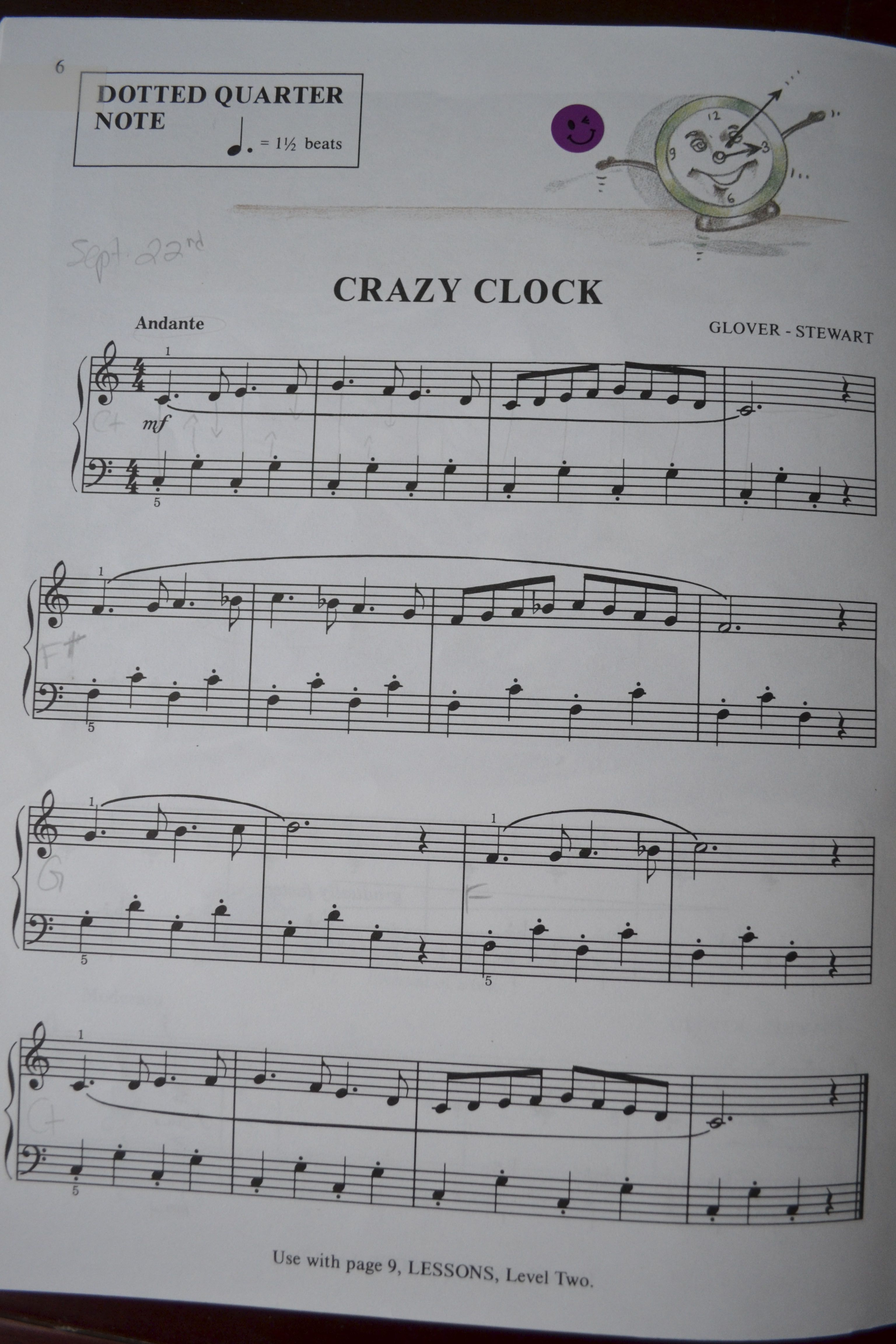 Crazy Clock For Beginner Pianists Piano Lessons Piano Music