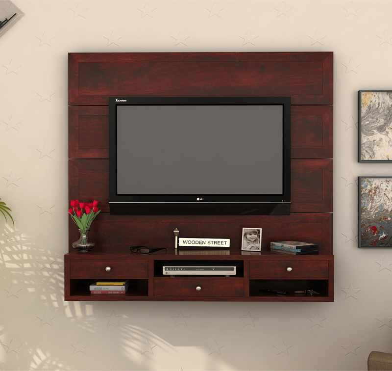 Fernsehschrank lcd  Snapple Wall Mount TV Unit is idyllic for less spacious #homes, as ...