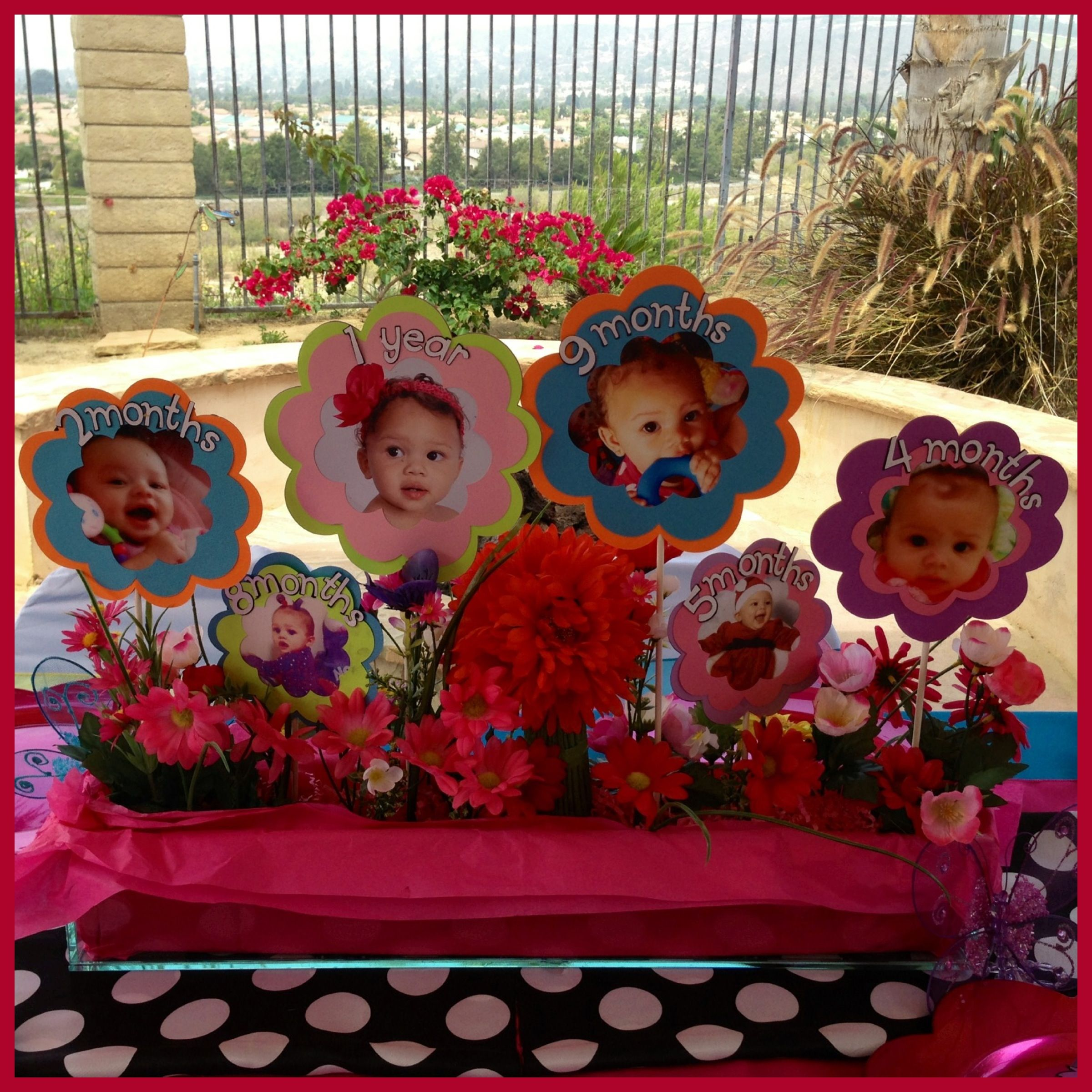 Baby S First Year Flower Pot Centerpiece Created For Alice In