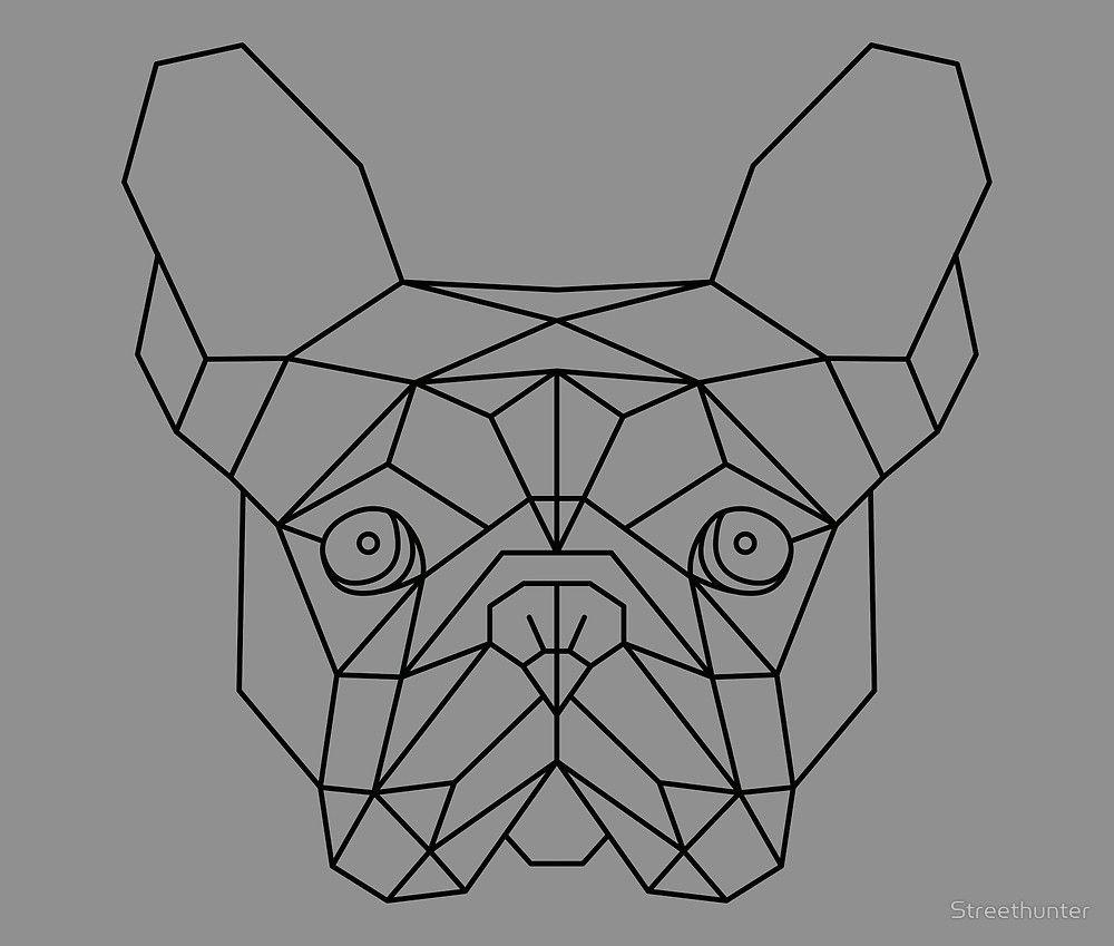 French Bulldog Geometric By Streethunter Geometrische Tekening Geometrische Tatoeages Wolf Tekening