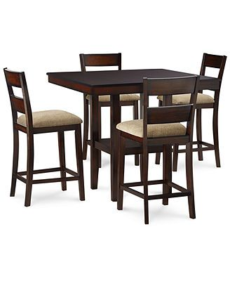 Branton 5 Pc Counter Height Set 4 Chairs Table Counter