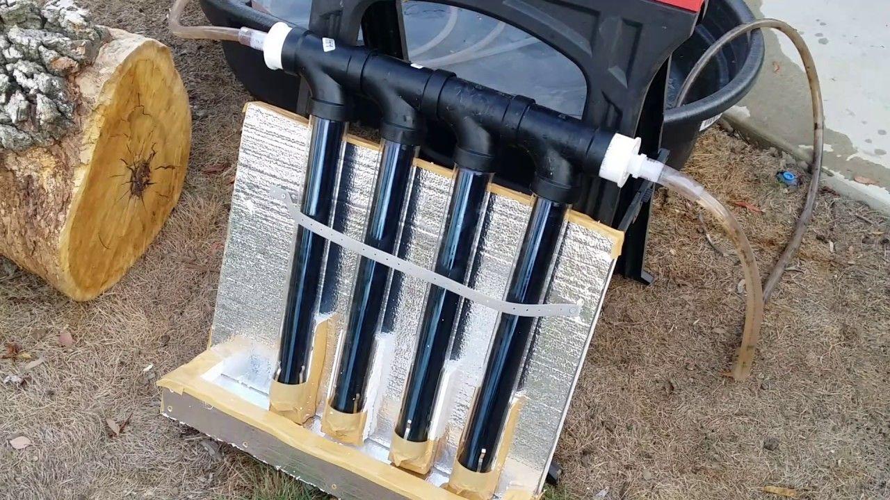 Diy Solar Vacuum Tube Hot Water Heater Solar Panels Diy