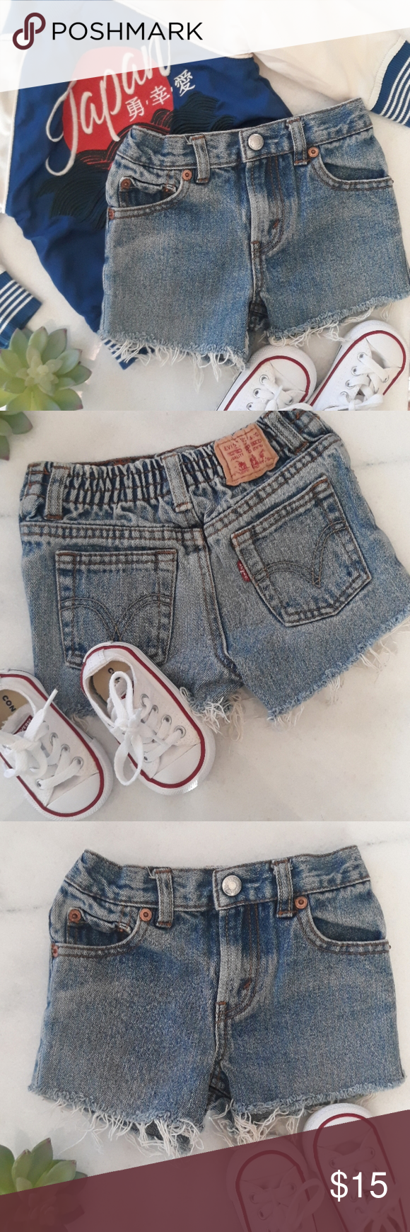 ❤ Levi's Cutoffs Shorts Levi cutoff shorts distressed hem elastic waistband size 18 months in good condition Levi's Bottoms Shorts #denimcutoffshorts ❤ Levi's Cutoffs Shorts Levi cutoff shorts distressed hem elastic waistband size 18 months in good condition Levi's Bottoms Shorts #denimcutoffshorts