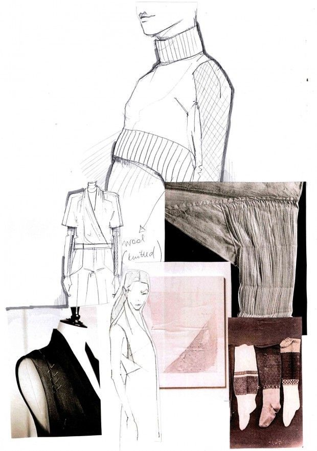 Fashion Sketchbook - fashion design development; fashion portfolio layout; fashion illustration // Mirjam Maeots #collageboard