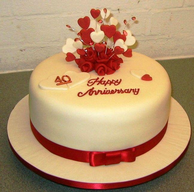 Amazing 40th Wedding Anniversary Cakes Inspirations Marina Gallery Fine Art 40th Wedding Anniversary Cake Wedding Anniversary Cakes Marriage Anniversary Cake