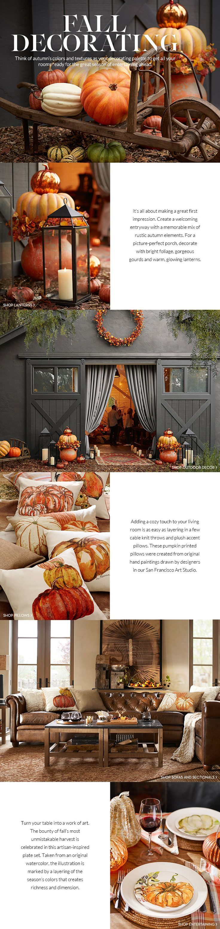 fall decor idea and wall decorations barn pottery popular design