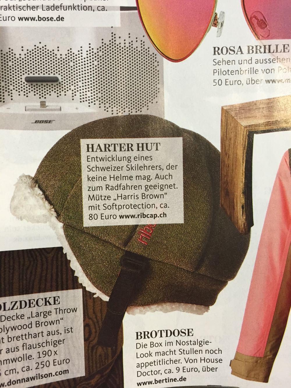 Ripcap Harris Brown   geiler Helm/Hut! Gesehen bei SchönerWohnen.