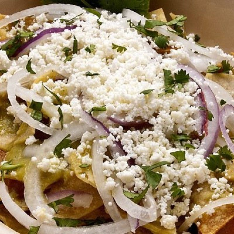 Green Chilaquiles in Roasted Tomatillo Sauce by Patti's Mexican Table #mexicancooking