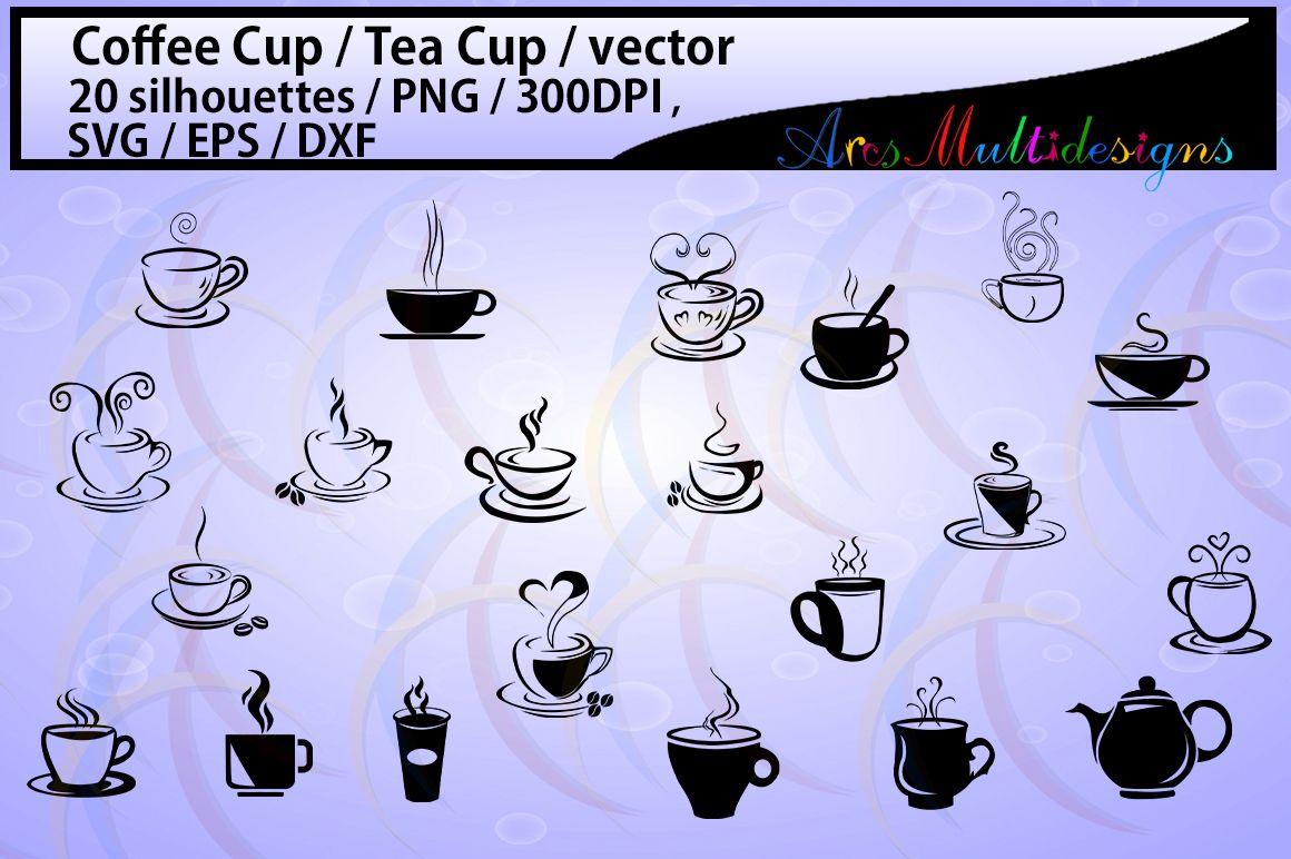 coffee svg / Tea mug / HQ / coffee cup silhouette svg