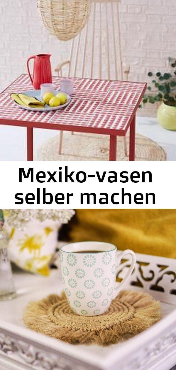 Mexiko-vasen selber machen #wanddekoselbermachen