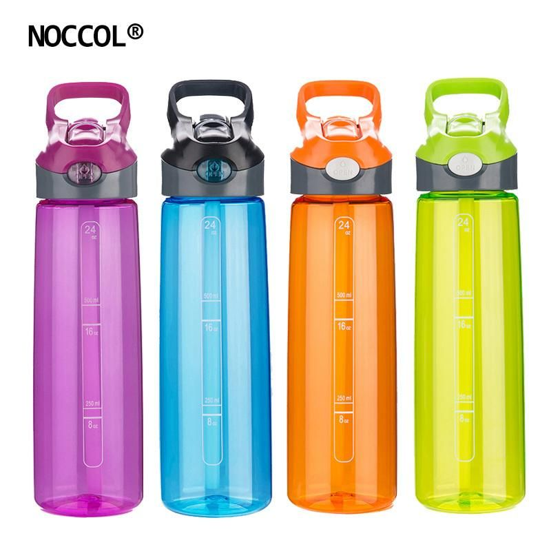 Noccol Eco Friendly Healthy Water Bottle High Quality Adults Sports Colored Bpa Free Plastic Straw Type Drinkware Fla Healthy Water Bottles Bottle Water Bottle