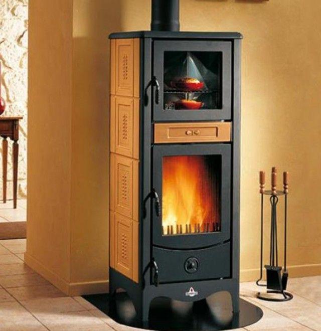 Stufa a legna con forno con rivestimenti colorati e brillanti around the fire pinterest - Stufa a legna per cucinare ...
