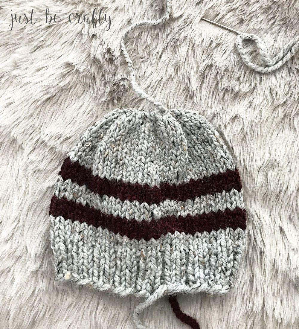 Lake Erie Chunky Skit Hat Pattern - Free Pattern by