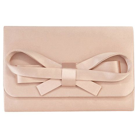 Buy Coast Sera Bow Clutch Bag, Blush Online at johnlewis.com ...