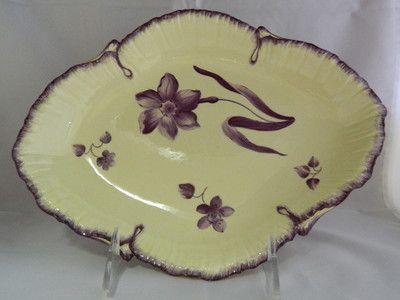 Antique English Creamware Ceramic Enamel Decorated Oval Pottery Dish C1790 | eBay