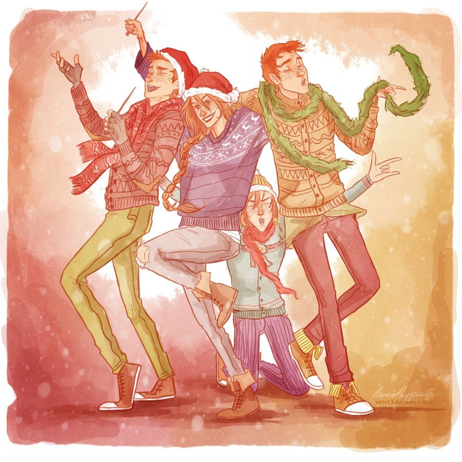 Harry Potter - Ron, Ginny, Fred And George By Viria13 -4508