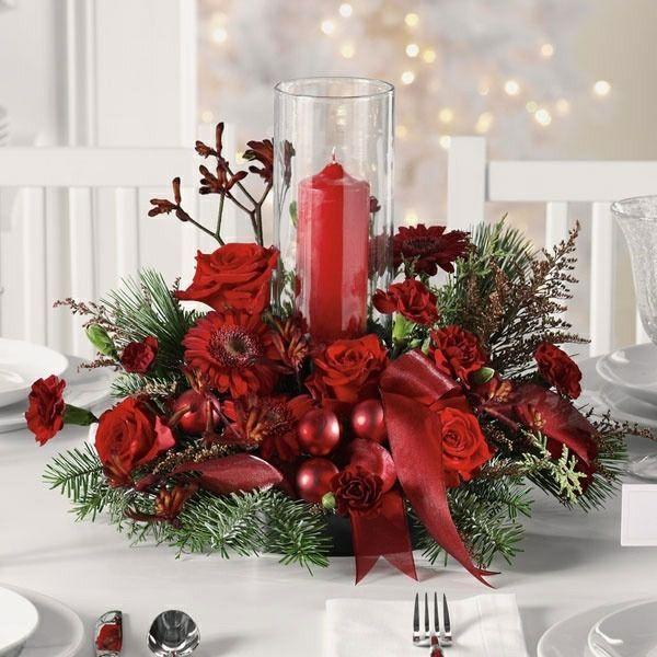 Rote weihnachtliche dekoration selber machen christmas deco pinterest weihnachten - Weihnachtstisch dekorieren ...