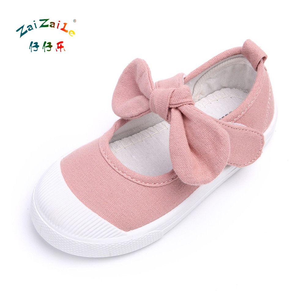 Zaizaile 2018 Nowosci Dziecko Dziewczyny Trampki Plocienne Buty Moda Plaska Z Dziewczynek Brezentowych Butow Mody Rozmiar 21 30 Buta Baby Shoes Shoes Fashion