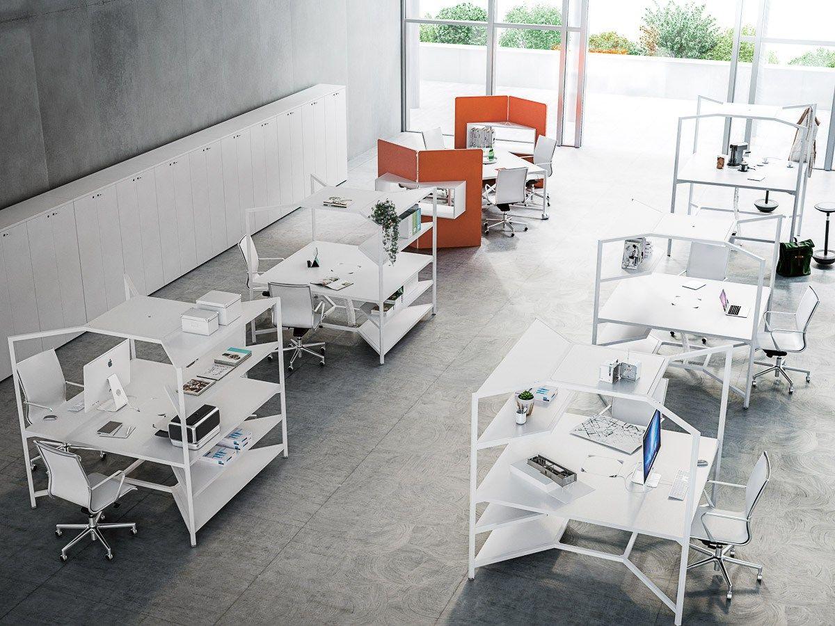 Hub Office Workstation By Fantoni Design Matteo Ragni Office  # Muebles Fantoni