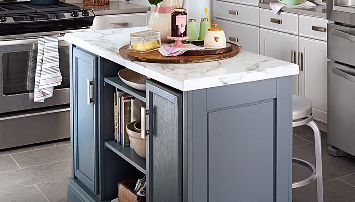 Delicieux Kitchen Island From Stock Cabinets   Turn Stock Boards, Unfinished  Cabinets, And A Countertop