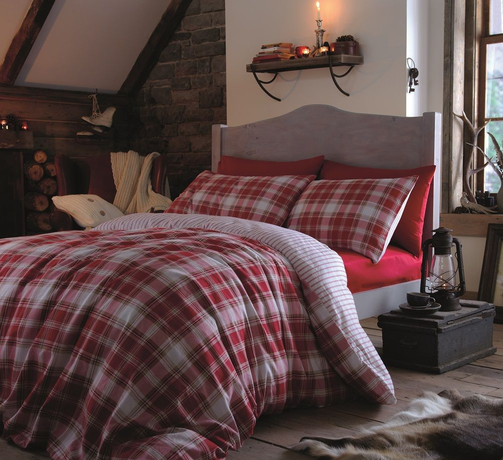 Red flannel sheets  Stag  Double  Natural  Double duvet covers Double duvet and